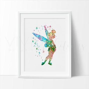 Tinkerbell Watercolor Art Print