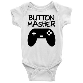Button Masher Baby Onesuit