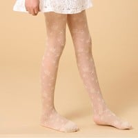 Lovely Ballet Girl Dancing Lace Pantyhose Cotton Tights For Girls Baby Kids Spring Autumn Brand Girl Tights
