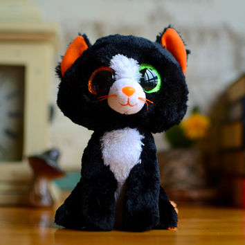 Hot Ty Beanie Boos Kids Plush Toys Big Eyes Colorful MAGIC Sophie Black Cat Lovely Gifts Kawaii Girls Cute Stuffed Animal Dolls
