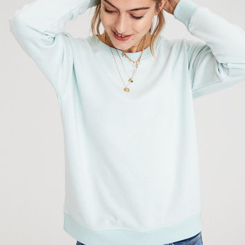 AE Lived & Loved Crew Sweatshirt, Mint