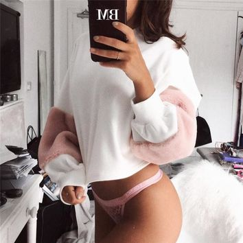 Winter Women's Fashion Hot Sale Long Sleeve Stylish Round-neck Hoodies [10779762503]