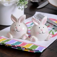 Easter Bunny Salt and Pepper Shaker Set