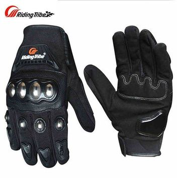ac NOOW2 Riding Tribe Motorcycle Gloves Men Women Stainless Steel Shell Touch Screen Riding Motorbike Gloves Guantes Moto Luvas Gants