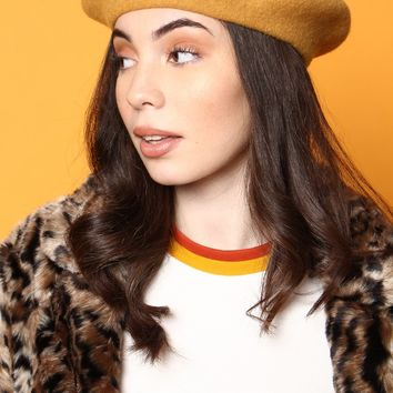 Must Have Wool Beret - Mustard