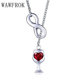 Infinity Wine Necklace Pendant
