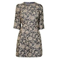 DOLCE AND GABBANA Floral Brocade Hourglass Dress - Flannels