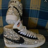 Fully Covered Bling Crystal Nike Blazer SB