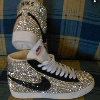 Fully Covered Bling Crystal Nike Blazer SB f443273b6b