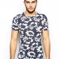 Native Youth T-Shirt With Sunflower Print