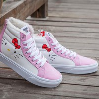 Vans Hellokitty SK8-HI Winter Plush Warm High-top Sneaker