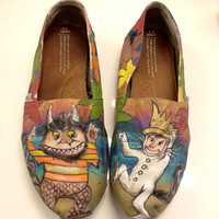 Where the wild things go hand painted toms