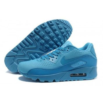 Men s Women s Nike Air Max 90 PRM EM Lake Blue Running Shoes