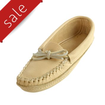 Women's Soft-Sole Moosehide Leather Moccasins 489-L