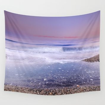 """Looking at the waves"" Sea dreams Wall Tapestry by Guido Montañés"