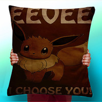 Eevee I Choose You - Cushion / Pillow Cover / Panel / Fabric