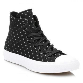 converse all star chuck taylor ii womens black dolphin shield trainers