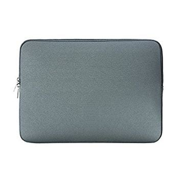 RAINYEAR 13-13.3 Inch Laptop Sleeve Computer Case Neoprene Padded Carrying Bag Cover for 13 MacBook Air/Pro,Notebook Tablet Ultrabook Chromebook of Dell HP Lenovo ThinkPad Samsung Asus Acer(Gray)