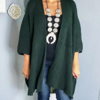 Autumn and winter new solid color sweater casual loose sweater cardigan coat female