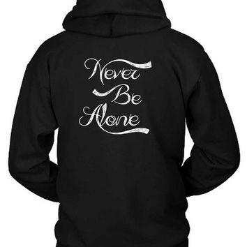 DCCKG72 Shawn Mendes Never Be Alone Handwrite Hoodie Two Sided