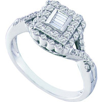 Diamond Fashion Ring in 10k White Gold 0.25 ctw