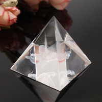 Modern 1Pcs Feng Shui Energy Healing Small Angel Egypt Egyptian Clear Crystal Pyramid Ornament Crafts Luck Gifts Home Room Decor