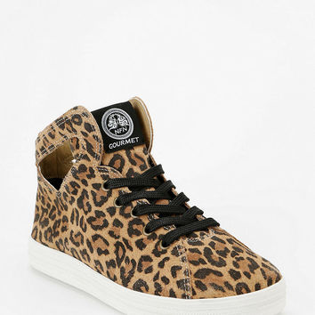 Gourmet Uno Cheetah Print Cutout High-Top Sneaker