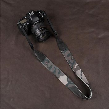 Camouflage Handmade Leather For Canon Nikon Sony Camera Strap professional Camera