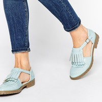 ASOS MACEY Fringe T-Bar Flat Shoes