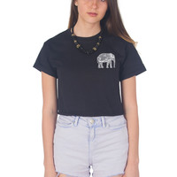 Boho Elephant Crop Shirt
