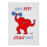Motivational Inspirational Heart Fitness Poster