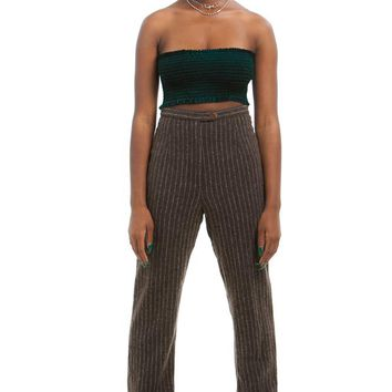 Vintage 90's Italian Pinstriped Trousers - M
