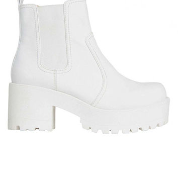 Lipstik Shoes - Eamon Boot - White