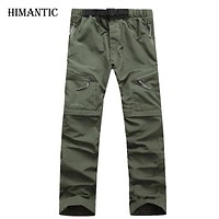 Men Quick Dry Pants Outwear Fishing Hiking Camping Sport Breathable Pants Men UV Protection Active army Trousers