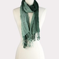 Ombre Woven Scarf in Teal
