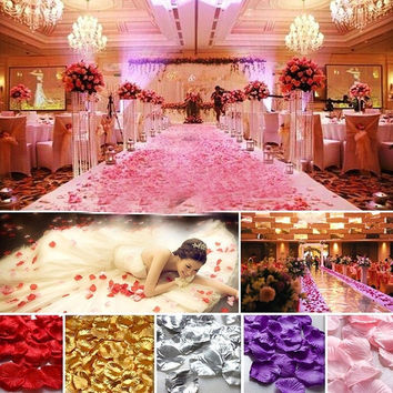 144 pcs Non-woven Rose Flower Petals Wedding Party Table Confetti Decorations = 1933196612