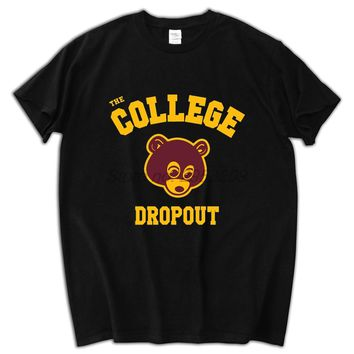 College Dropout T Shirt men Kanye West music printed gift short sleeve casual tee male tee tops