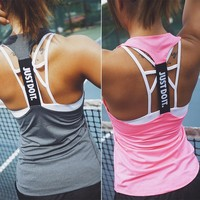 Women Tank Tops Vest Sleeveless Fitness Shirts Tight Tanks Singlets regata feminina haut femme