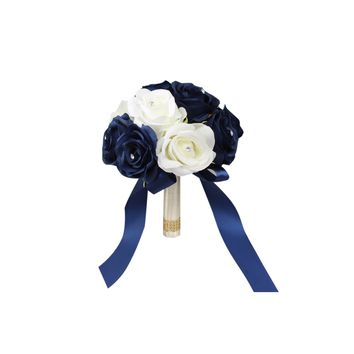 "7.5"" Bouquet-Navy Blue White"