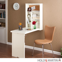 Holly & Martin Leo Fold-Out Convertible Desk-Winter White