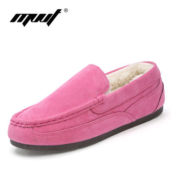 Super Comfortable women winter shoes Genuine Leather women flats loafers ballet flat shoes 8 Colors Moccasins Slip On shoes