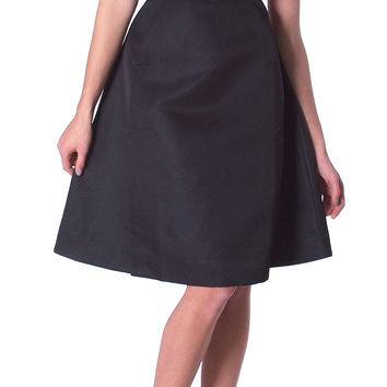 Soft Play Midi Skirt - Black