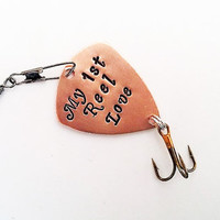 Personalized Fishing Lure Father of the Bride Daddy Fishing Gift for Father My 1st Reel Love Dad custom first reel love Valentines Day