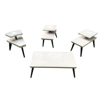 Vintage Atomic Retro Coffee Table & End Tables - Set of 4