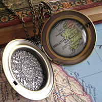 Customizable Map Locket