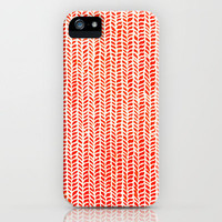 Stockinette Orange iPhone Case by Elisa Sandoval | Society6