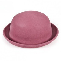 Wine red wool bowler hats   style zz92601502 in  Indressme