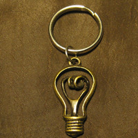 I have a bright idea light bulb  keychain