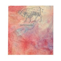 Pink Marble Capricorn Notepad