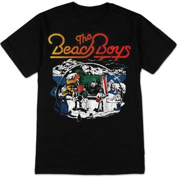 LEQEMAO T shirt Top Tee The Beach Boys Live Drawing Classic Music Group T-Shirt charcoal